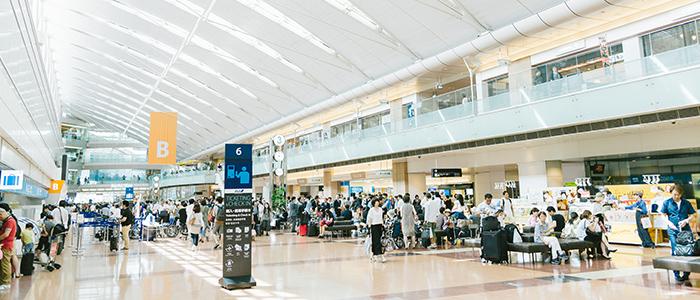 羽田空港第二ターミナルの様子